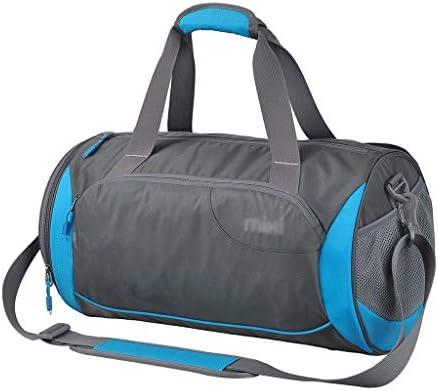 5色のオプションの多機能ウェットとドライの分離スポーツジムバッグポータブル大容量のゴルフ衣料品収納袋独立靴 HMMSP (Color : Blue, Size : 40×21×21cm)