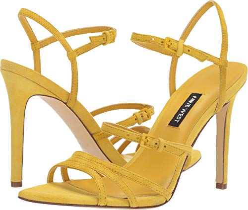 Nine West Womens Gilficco Strappy Sandals Citrine Yellow 9 M