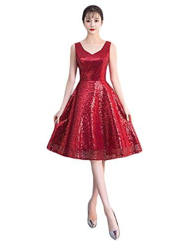 Mujer Vestido Rosso Trapecio Stillluxury Para qt6dn4