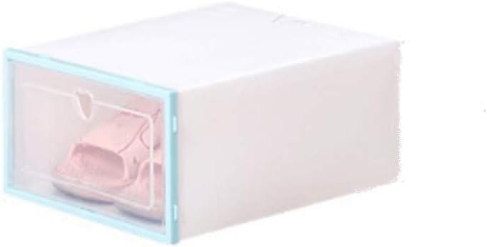 Lanbowo Zapato Caja Transparente Plástico Zapato Caja FILP Diseño Almacenamiento Zapatos Artefactos Hogar Almacenaje Herramienta - Azul: Amazon.es: Hogar