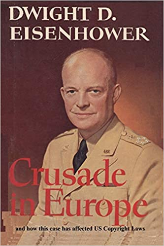Front cover for the book Crusade in Europe by Dwight D. Eisenhower