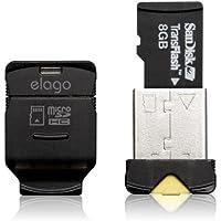 elago EL-RD-012-BK Card Reader - Lector (microSD (TransFlash), microSDHC, USB 2.0, Black, 6.35 x 12.7 x 17.78, 101.6 x 127 x 2.54)