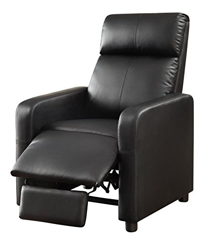 Theater Seating Black Collection (1PerfectChoice Toohey Home Theater Collection Black Push Back Recliner Chair)