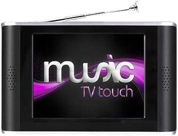 Dane Elec Music Tvtouch - Reproductor de TV, MP3 y MP4 con pantalla táctil (8 GB), color negro [Importado de Francia]: Amazon.es: Electrónica