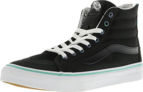 Vans Herren Sk8-Hi Slim Hight Top Lace Up Skateboard Schuhe (Iridescent Eyelets) Schwarz