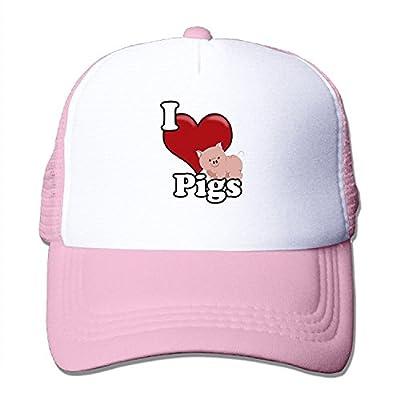 Love Pigs Men Trucker Mesh Hat Baseball Caps Black