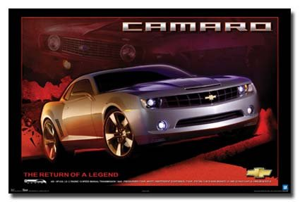 CAMARO POSTER The Return of a Legend RARE NEW HOT 24X36 (Camaro Poster)