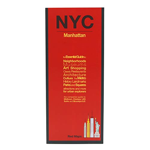 Red Maps NEW YORK CITY - MANHATTAN Street Map and City Guide (Soho-shopping New York)