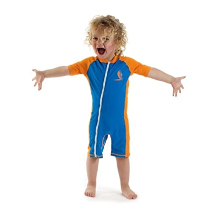 e05f524a86 Amazon.com : Baby Infant Size L Sun Uv Protection One-piece Blue ...