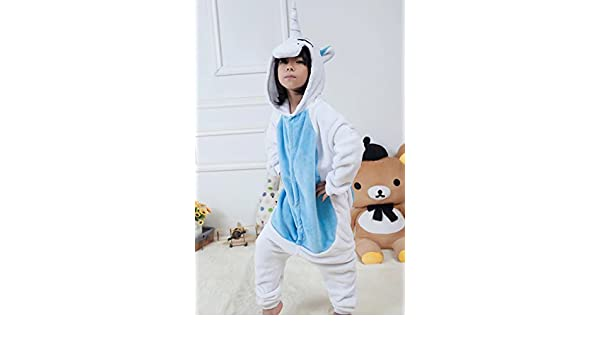 d0da61e11 Amazon.com: MH-RITA 2017 Unicorn Pajamas Adult Kids Warm Flannel Siamese  Cartoon Autumn Winter Pajamas Family Fitted Animal Pajamas For Women Men,01,Xxxl:  ...
