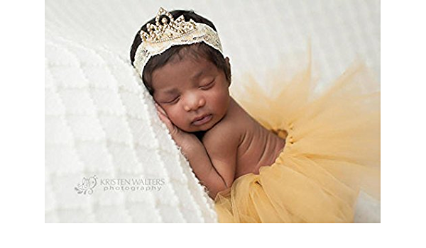 Mini Baby Crown Photography Prop Gold//Silver Headband Ring Decor Fashion Me B6W4