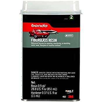 Bondo Fiberglass Resin, 00402, 0.9 Quart