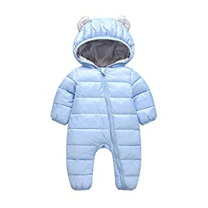 Kobay Baby Unisex Romper Sets, Newborn Boys Girls Kid Rompers Children Winter Thick Cotton Warm Candy Colors Clothes…