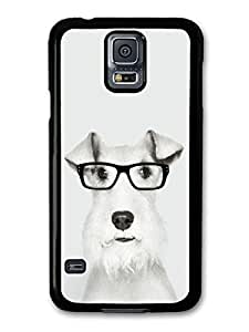 AMAF ? Accessories Funny Wire Fox Terrier With Glasses case for Samsung Galaxy S5
