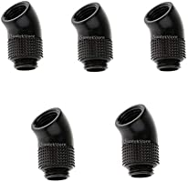 G1//4 Thread 45 degree elbow rotary connector fitting adapter PC water cooliES