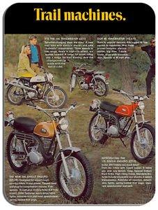Yamaha Vintage Trail Velo Motard Moto Publicite Tapis De Souris