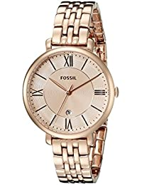 7afac7d9ffe Women s ES3435 Jacqueline Rose Gold-Tone Stainless Steel Watch · Fossil