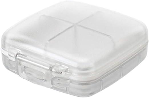 GL Cajas De Almacenamiento De Plástico Transparente, Mini Caja De Almacenamiento Transparente Transparente De 4 Compartimentos: Amazon.es: Hogar