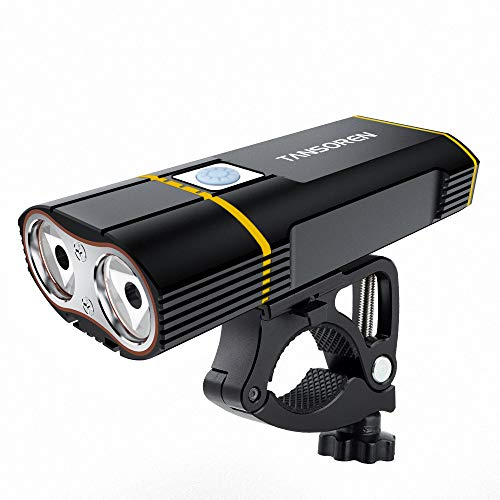- TANSOREN 【Latest Upgrade Aluminum Alloy Bike Mount】 USB Rechargeable Bike Headlight with 2000 Lumens LED Lamp, Bicycle Light Waterproof 5 Light Modes for Road Cycling Safety Flashlight