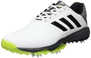 adidas Adipower Bounce Wd, Zapatos de Golf Hombre, Blanco/Negro/Lima, 43 1/3