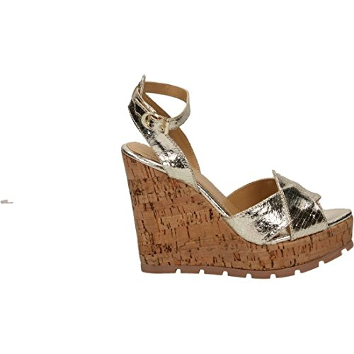 (Apepazza Wedge Sandals Shoes FRT47 / FIA Cracked Gold Size 37 Gold )