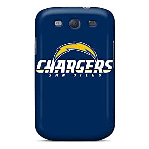 Scratch Protection Cell-phone Hard Cover For Samsung Galaxy S3 With Support Your Personal Customized Nice San Diego Chargers Pattern InesWeldon
