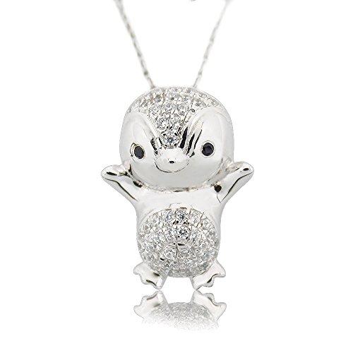 Morsca Cute Penguin Animal Pendants Ster - Sterling Penguin Shopping Results
