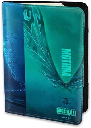 Godzilla King Of The Monsters ゴジラ モンスター ロゴ パスポートケース メンズ 男女兼用 パスポートカバー パスポート用カバー パスポートバッグ 小型 携帯便利 シンプル ポーチ 5.5インチ高級PUレザー 家族 国内海外旅行用品