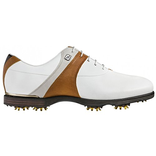 FootJoy Icon Black Men's Golf Shoes (7 D(M) US, White/Tan)