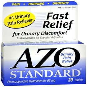 (AZO Standard - Urinary Pain Relief - 95 mg Strength - Tablet - 30 per Bottle-McK)