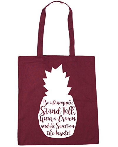 litres The Burgundy 10 Be Be Bag Crown Tall 42cm Gym A Sweet Inside On Pineapple Wear x38cm Shopping Tote Stand HippoWarehouse Beach a and Sx7FgF