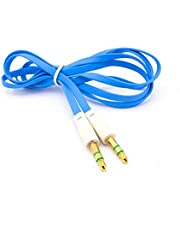 Aux Cable Stereo 3.5mm - 1 Metre, Blue