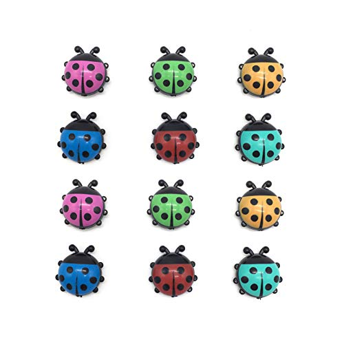 lofekea 12-Pack Multi-Use Decorative Magnets for Refrigerator Cute Ladybug Office Magnets Kitchen Magnets Refrigerator Magnets Fridge Magnets for Whiteboard Magnets for Dry Erase Board