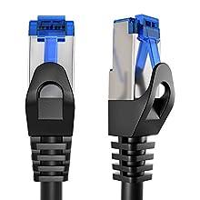 KabelDirekt - 30m - Cable de Red, Cable Ethernet y LAN - (transmite hasta 1 Gigabit por Segundo y es Adecuado para switches, routers, módems con Entrada RJ45, Negro-Plata)