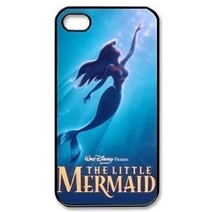 Custom Hard The Little Mermaid iPhone 4 / 4S Cover, Snap On The Little Mermaid iPhone 4 / 4S