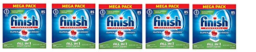 Finish All In 1 Powerball, Fresh 85 Tabs, Dishwasher Detergent Tablets (Packaging May Vary) (5 X 85 TABLETS) by Finish