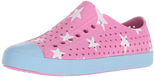 Native Shoes Jefferson Water Shoe, Malibu Pink/Sky Blue/Big Star, 12 Men's M US