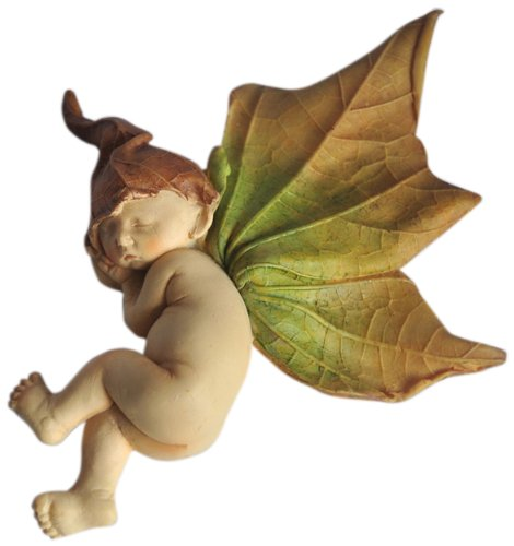 (Top Collection Enchanted Story Fairy Garden Sleeping Fairy Baby Outdoor Statue, 4.5 by 4.5-Inch)