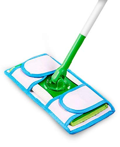 Set Of 2 Microfiber Weber's Wonders Prime Mop Pads - Washable - Reusable - Durable - Works With Swiffer and ReadyMop Heads