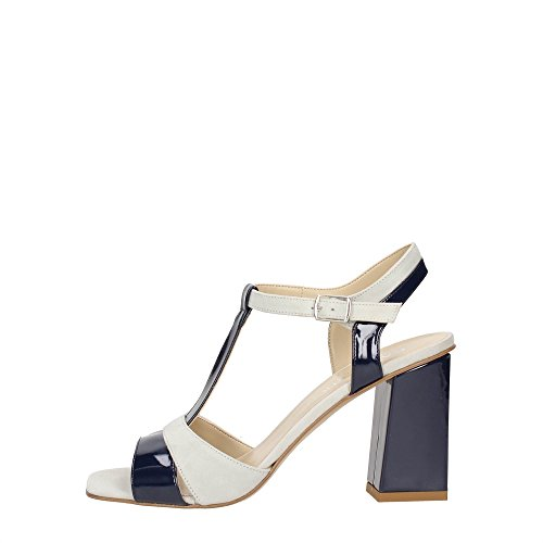 CafèNoir MLE524 Sandale Femme Cuir Bleu 39
