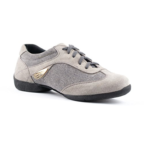 Grigio Sneakers Denim Donne Pd07 Sneaker scamosciata Suola Fashion Dance Portdance qaP0XZEXc