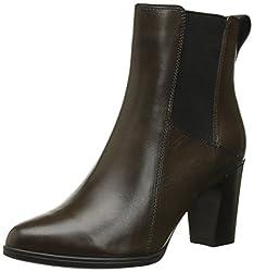Clarks Women's Kadri Liana Boot, Khaki Leather, 9.5 M US