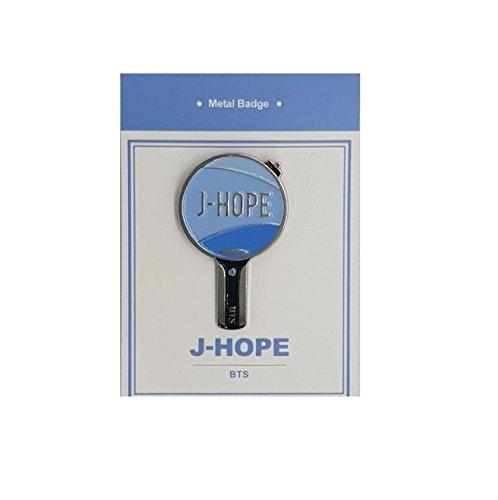 K POP New Hot BTS & TWICE - METAL BADGE (J-HOPE) KEY SHAPE (Key Hope)