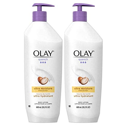 Olay Quench Body Lotion Ultra Moisture with Shea Butter and Vitamins E and B3, 20.2 oz (Pack of 2) (Best All Over Body Lotion)