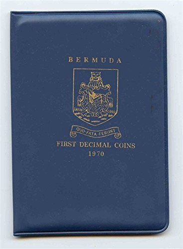 Bermuda First Decimal Coin Set 1970 in Blue Folder 5 Uncirculated Coins