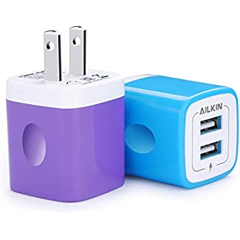 Amazon.com: Charger Base, USB Brick, Ailkin 6Pack High Speed ...