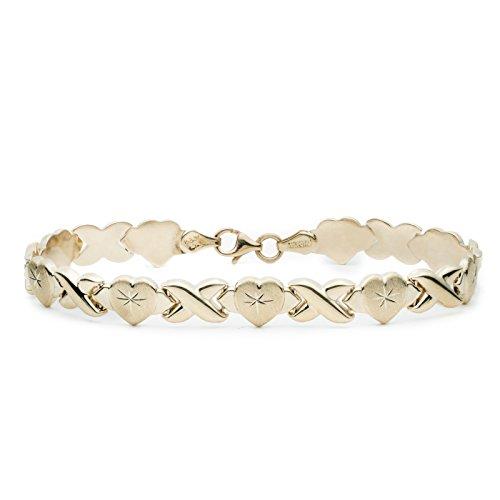 ld Stampato Xoxo X & Heart Chain Bracelet (Gold Womens Stampato Bracelet)