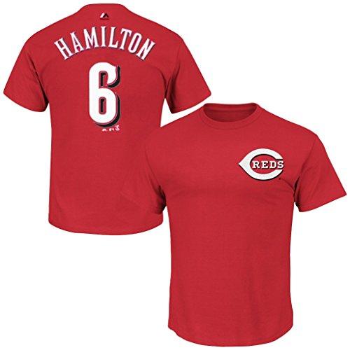 VF Cincinnati Reds MLB Mens Majestic Billy Hamilton Player Shirt Red Big & Tall Sizes (4XL)