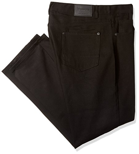 Southpole Men's Big and Tall Twill Pants Long In Thick Bull Twill Fabric and Straight Fit In Twill Fabric, Black, - Men Thick Black Big