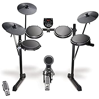 "Alesis DM6 USB Kit | Eight-Piece Compact Beginner Electronic Drum Set with 8"" Snare, 8"" Toms, & 12"" Cymbals"